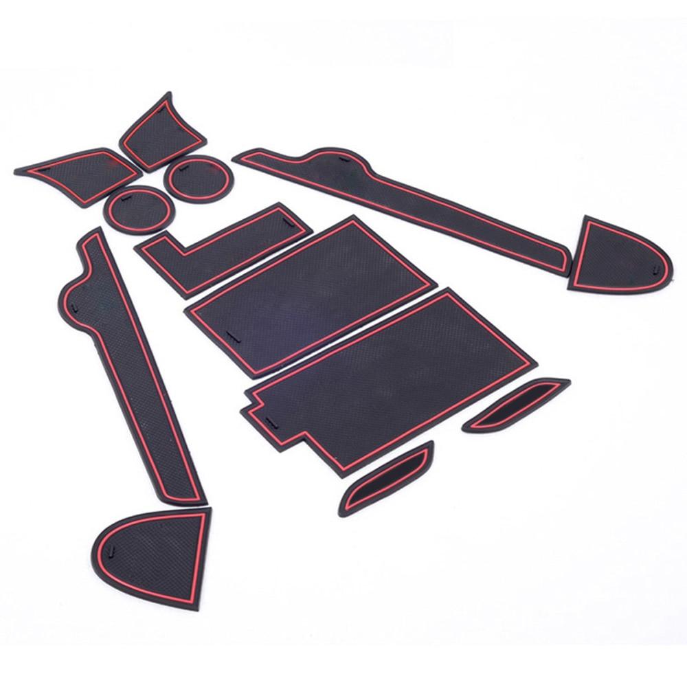 Rubber floor mats nissan sentra 2013 - For Nissan Teana 2013 2014 2015 13pcs Car Interior Door Mats Gate Slot Cushion Pad Cup Mat Top Quality Rubber Door Slot Cushion