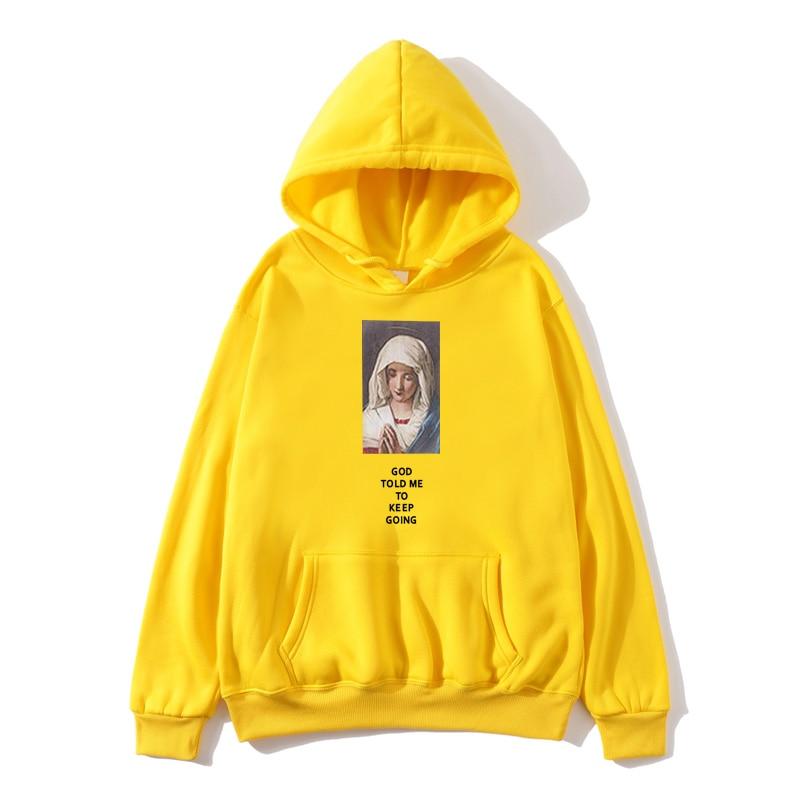 BO88 Eden Funny Virgin Mary Print Pullover Hoodie Sweatshirt 2019 Hip Hop Fashion Women Casual Streetwear Booty UR38