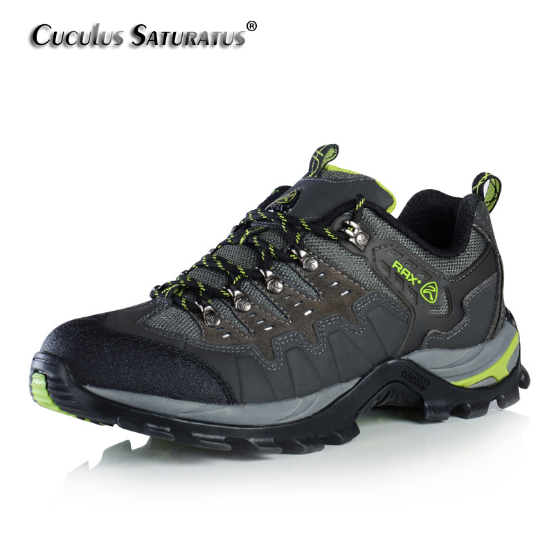 RAX Suede Leather Shoes Men Surface Waterproof Breathable Outdoor Hiking Shoes Men Women Climbing Trekking Shoes 15-5C007 rax original waterproof hiking shoes for men trekking shoes suede leather men mountain shoes outdoor climbing walking shoes