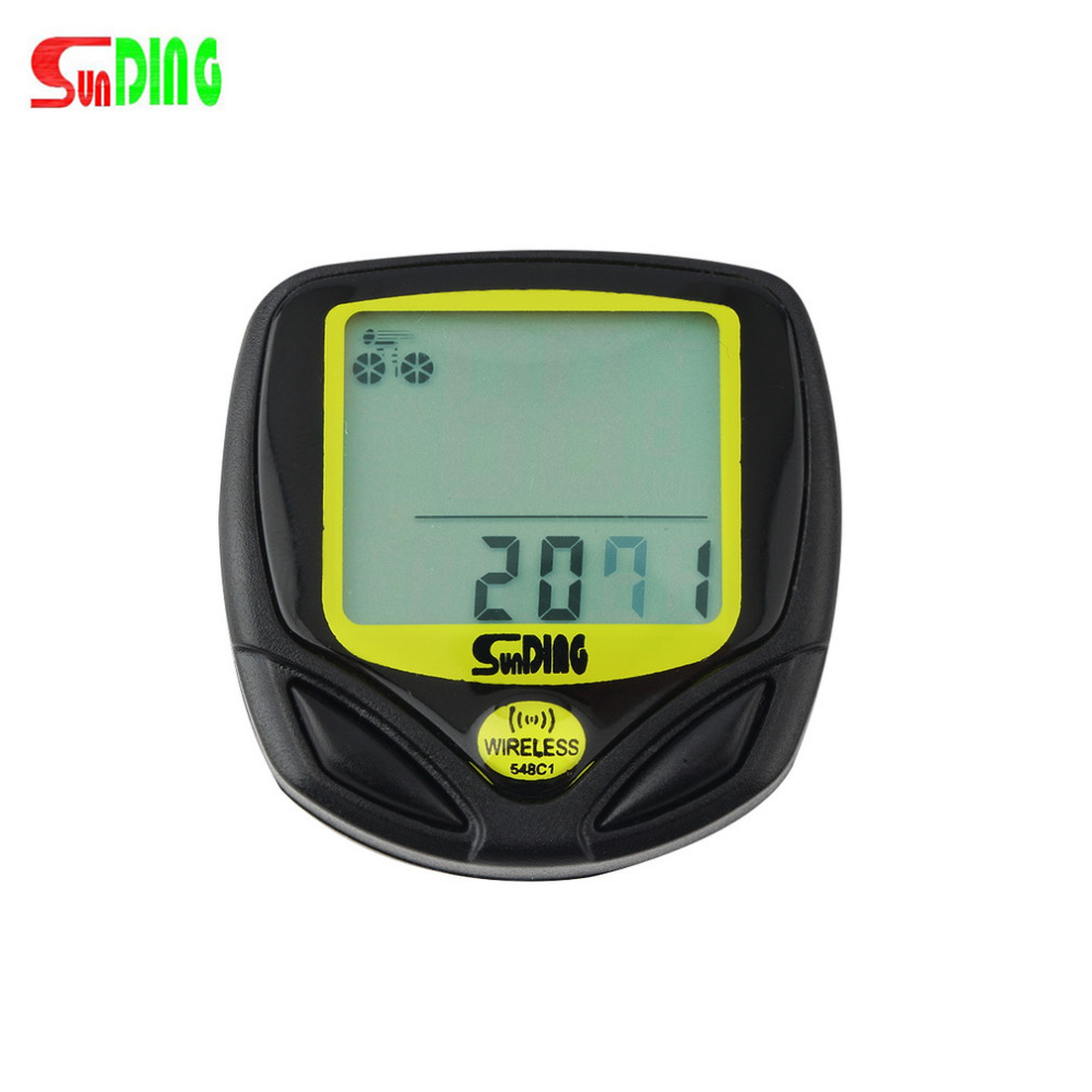 Wireless Cycling Computer Waterproof Bicycle Odometer Speedometer With LCD Display Bike Speedometer Drop Shipping wireless bike bicycle computer speedometer waterproof led cycle cycling odometer zmb02