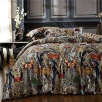 Cotton Royal Bedding set Printed Butterfly Super King Queen size Bed sheet set Duvet cover Bedding sets