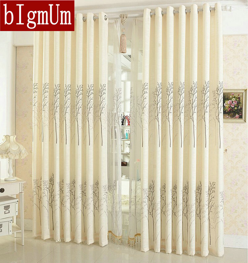 Linen Curtains For Living Room Curtain  Simple Rustic Eco-friendly Natural Healthy Free shipping