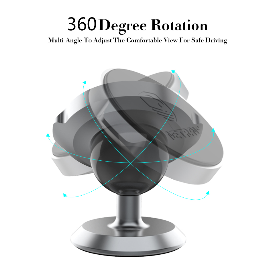 Metrans Magnetic Car Phone Holder For iPhone X 7 XS Max soporte Universal 360 Degree GPS Stand Holder For Phone telefon tutucu in Phone Holders Stands from Cellphones Telecommunications