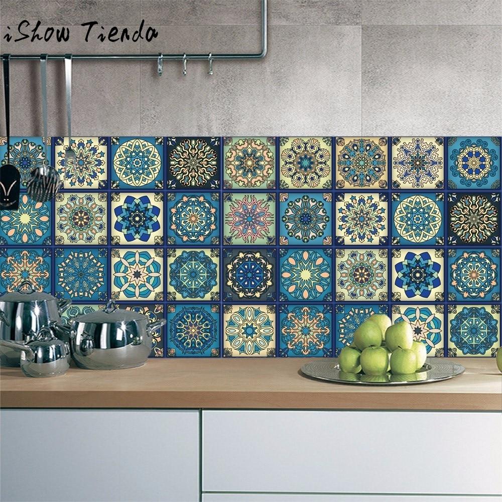 1Roll Self Adhesive Tile Art Wall Decal Sticker DIY Kitchen Bathroom Decor Vinyl Pegatinas Paredes Decoracion