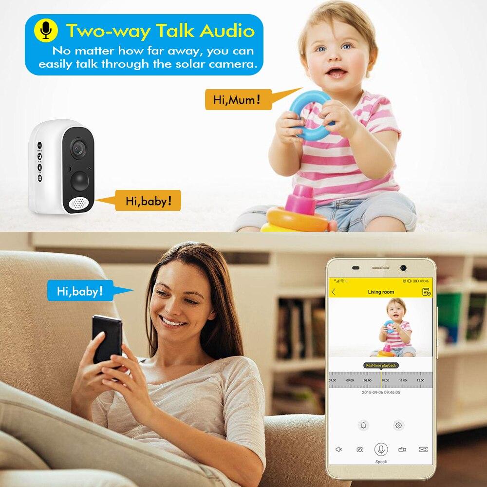 Hiseeu 13600mAh Batterie IP Kamera 1080P HD Drahtlose WIFI Kamera 2.0mp Home Security Video Survelliance Wasserdichte PIR Alarm