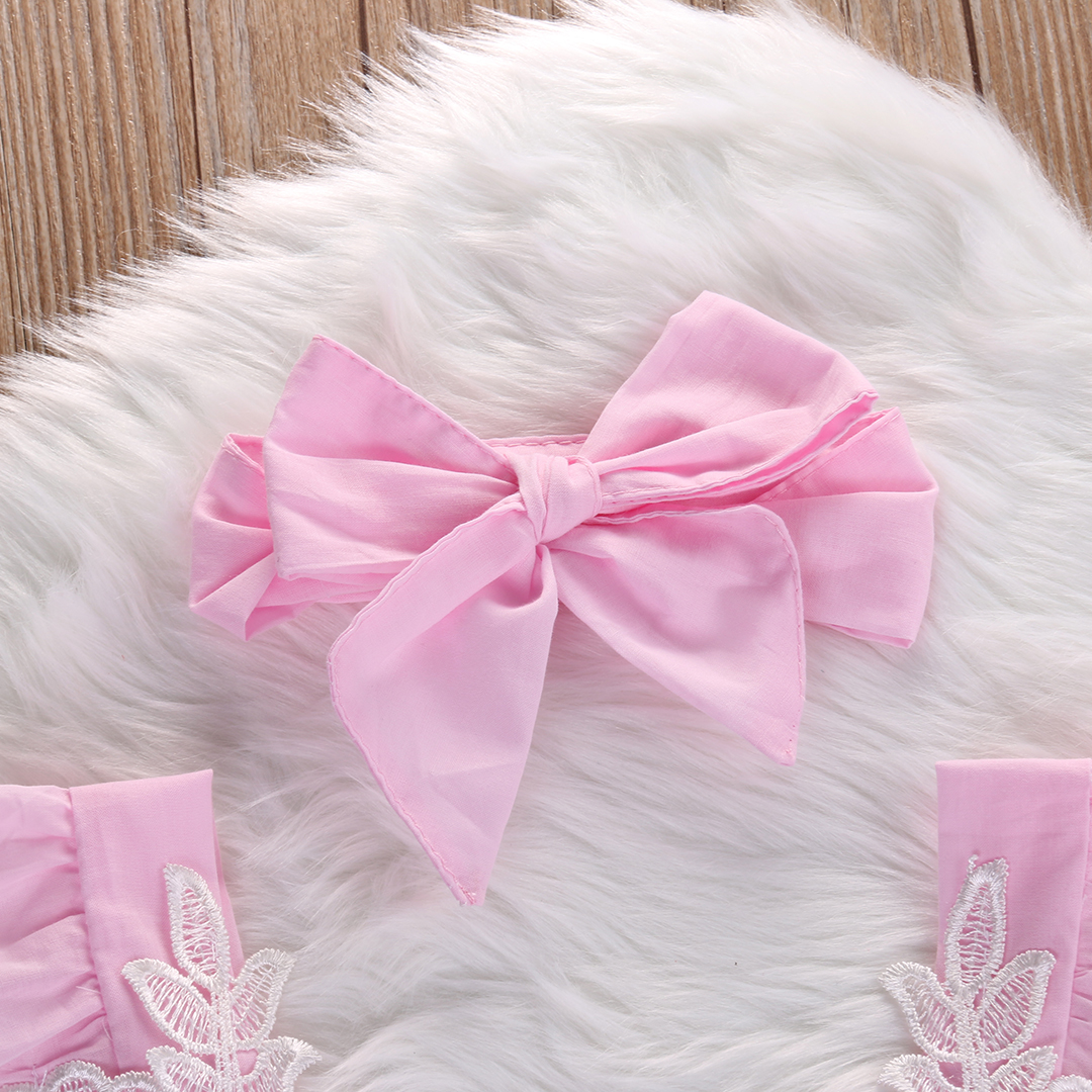 Newborn-Infant-Baby-Girls-Pink-Lace-Floral-Romper-Backless-Jumpsuit-Outfits-Set-headband-Sunsuit-0-18M-4