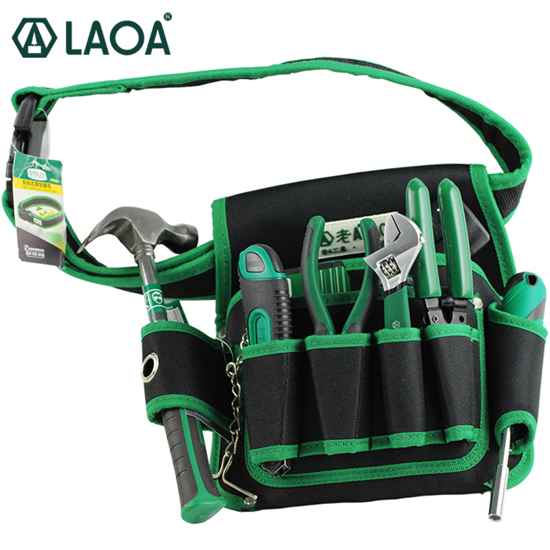 LAOA Multi-fonction Telecommunications toolkit Tools Bag 600D Water-proof Oxford tools Bags Size 19cm*29cm цена