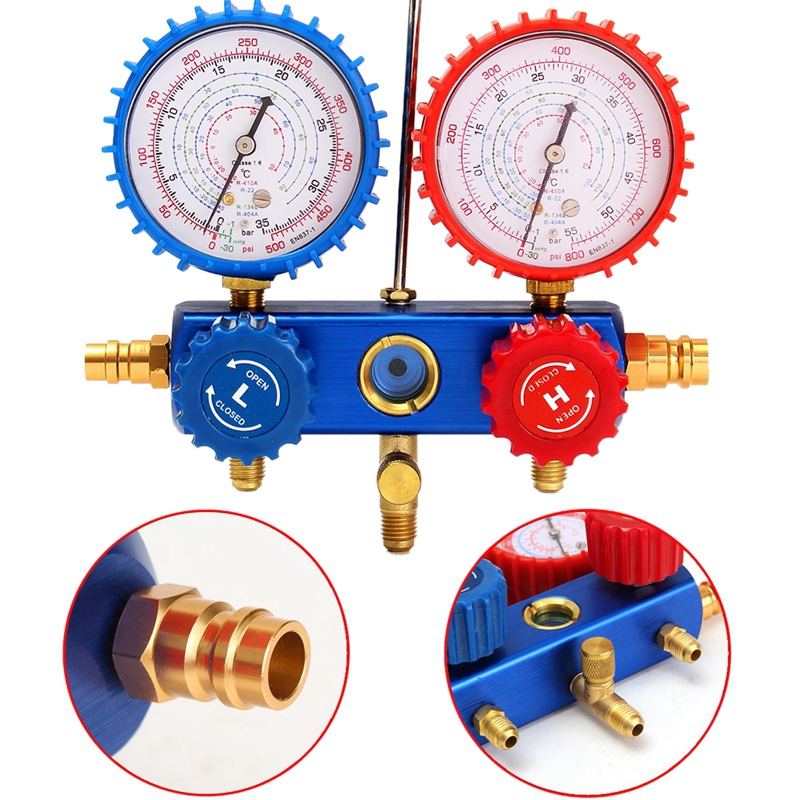 HLZS-Auto Manifold Gauge Set A/C R134A Refrigerant Charging Hose With 2 Quick Coupler For R134A Air-Conditioning Refrigeration