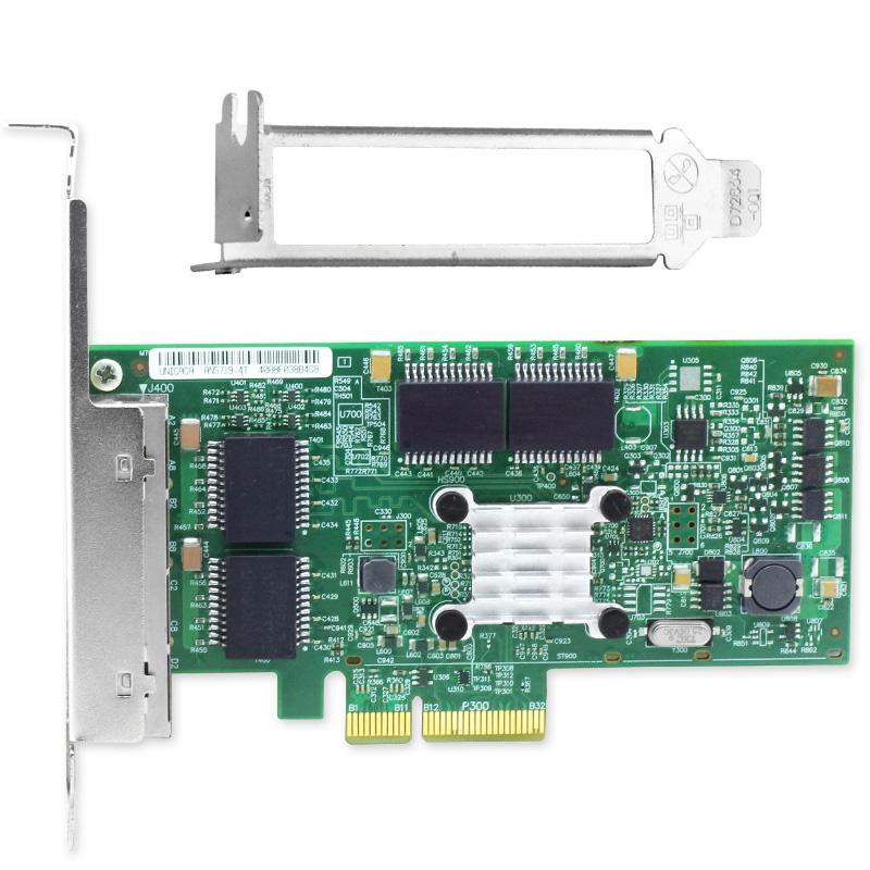 PCIe X4 Gigabit Ethernet NIC Card 4 Port Network Adapter 10/100/1000M For Server