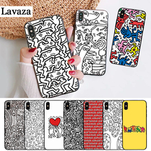 Lavaza Keith Haring Silicone Case for iPhone 5 5S 6 6S Plus 7 8 11 Pro X XS Max XR