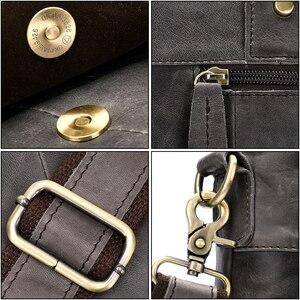 Image 5 - WESTAL Large Leather Briefcases Mens Genuine Leather Briefcase for Laptop 14 Messenger Bag Men Laptop Bags Office/Work Bag 8520