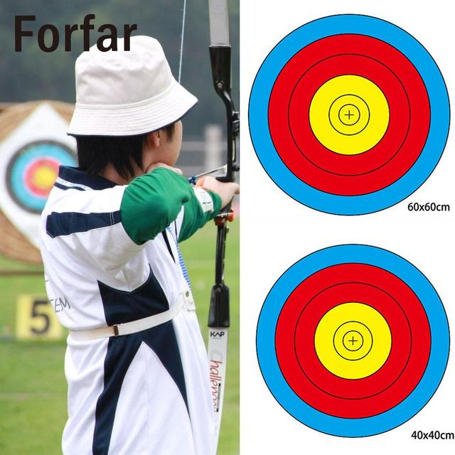 1 Pcs 60*60CM Bow Arrow Gauge Training Archery Targets Beginner Shooting Target Paper Useful for Hunting Shooting Training