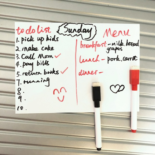 Effaceur à sec magnétique tableau blanc | Autocollant réfrigérateur, autocollant cuisine maison, rappel Message, bloc-notes tableau blanc, stylo marqueur
