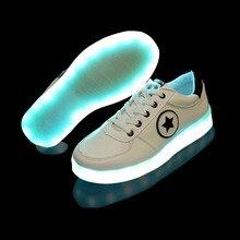 Rechargeable Kids Light Up Shoes Led Children USB Illuminated Krasovki Luminous Glowing Womens Mens Fashion Sneakers Girls Boys
