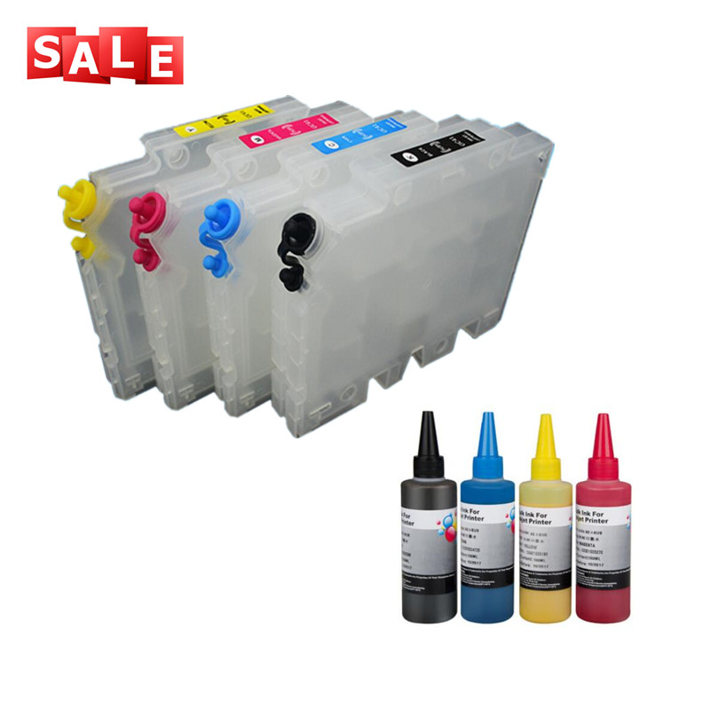 GC41 Refillable Ink Cartridge 4 color sublimation ink for Ricoh SG2100N SG3100 SG3100SNW SG3110DNW SG3110DN SG3110SFNW
