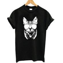 Cute Cat Print T-Shirt for Women