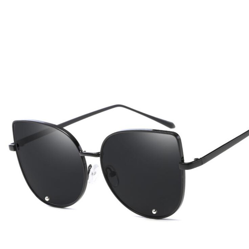 9f53cf3102 Aliexpress.com   Buy 2018 future fashion Women Colour Luxury Flat Top Cat  Eye Sunglasses oculos de sol men Twin Beam Sun glasses Alloy Frame UV400  from ...