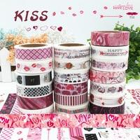 19Pcs Lot Sale Japanese Cute Washi Tape Love Kiss Set For Card Making Stationery Kids Crafts