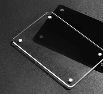 20 pc Wall Sign Holder Acrylic Black Magnetic Cover Block Door Signage Frame Paper Info Name Card Price Tag Display Wall Mounted