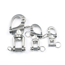 Swivel Jaw Shackle 304 Stainless Steel Quick Release Boat Anchor Chain Eye Snap Hook Free Shipping