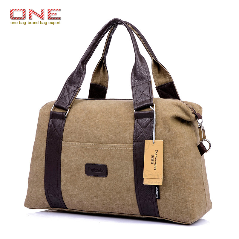 hot men's casual canvas travel bags duffel shoulder bags thick large male luggage bags PT699