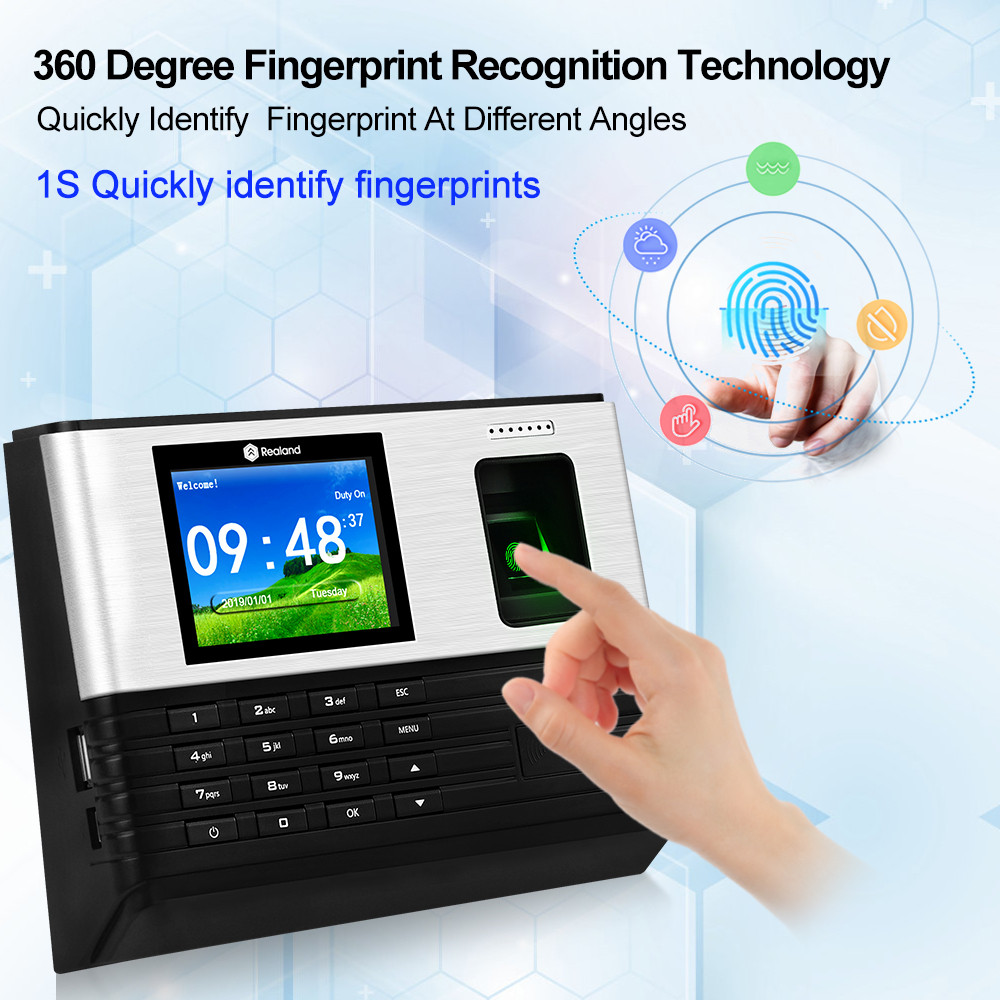 Image 2 - TCP/IP/Wifi 2.8inch Biometric Fingerprint Time Attendance Machine RFID Card Finger print Time Recorder System, Support Battery-in Fingerprint Recognition Device from Security & Protection