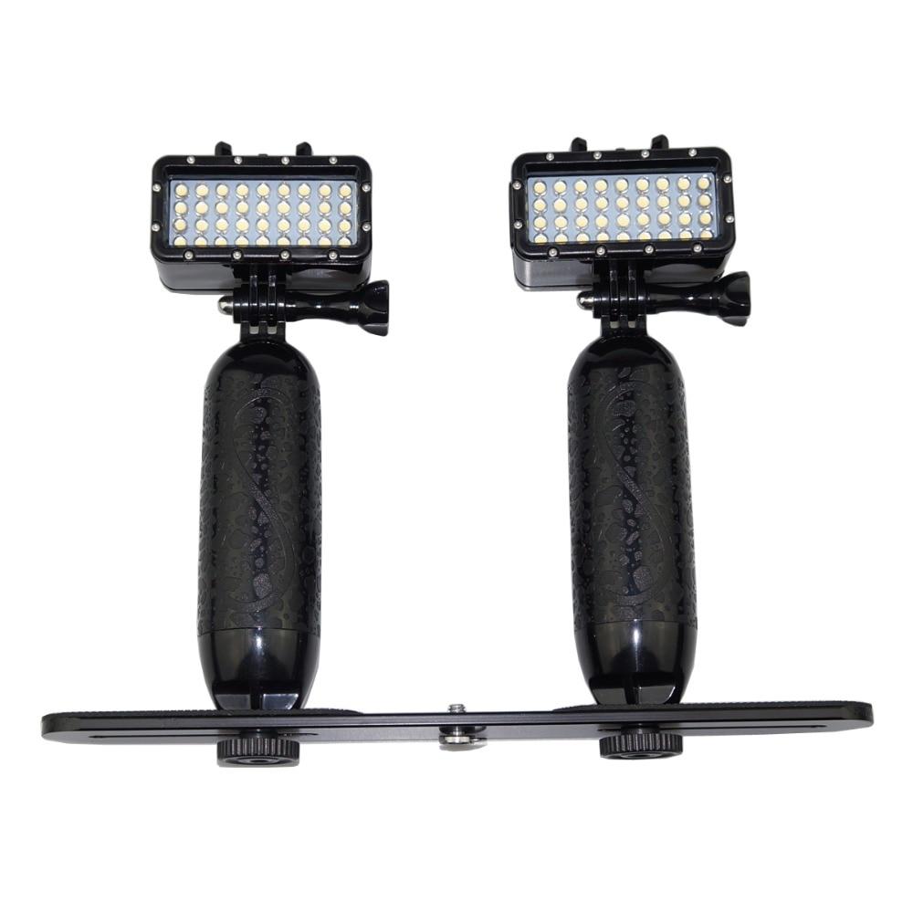 40M Underwater LED Video Lamp Diving Go Pro Lighting Fill Light Stand For GoPro Hero 7 6/5/4 SJCAM Yi Mijia Action Camera