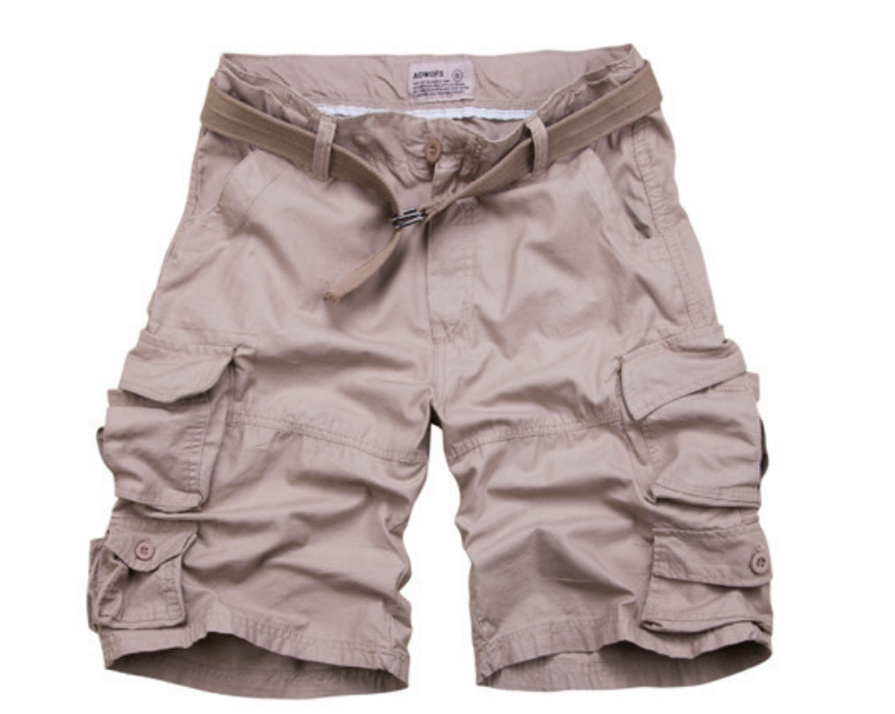 Mens Colorful Plus Size Loose Fit Baggy Cotton Cargo Shorts with Zipper for Men DK001
