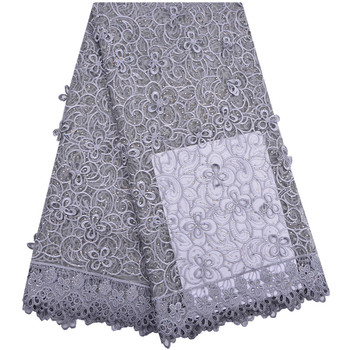 2018 Latest Gray French Nigerian Laces Fabric High Quality Tulle African Laces Fabric Wedding African French Tulle Lace 1291