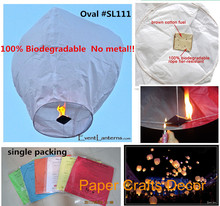 8pcs/lot Diamond Shape Biodegradable Tissue Paper Sky Lanterns Flame Resistant Flying Lampions For Wedding Party(China)