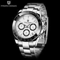 PAGANI 2019 Serie Klassische Schwarz Zifferblatt Luxus Männer quarz Uhren Edelstahl 30m Wasserdichte Mechanische Uhr