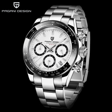 PAGANI 2019  Series Classic Black Dial Luxury Men quartz Watches Stainless Steel 30m Waterproof Mechanical Watch