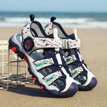 ULKNN Boy sandals big boy 8 years old 5 soft bottom 12 new 2019 boys 15 beach shoes version 9 childrens 4 Baotou 10