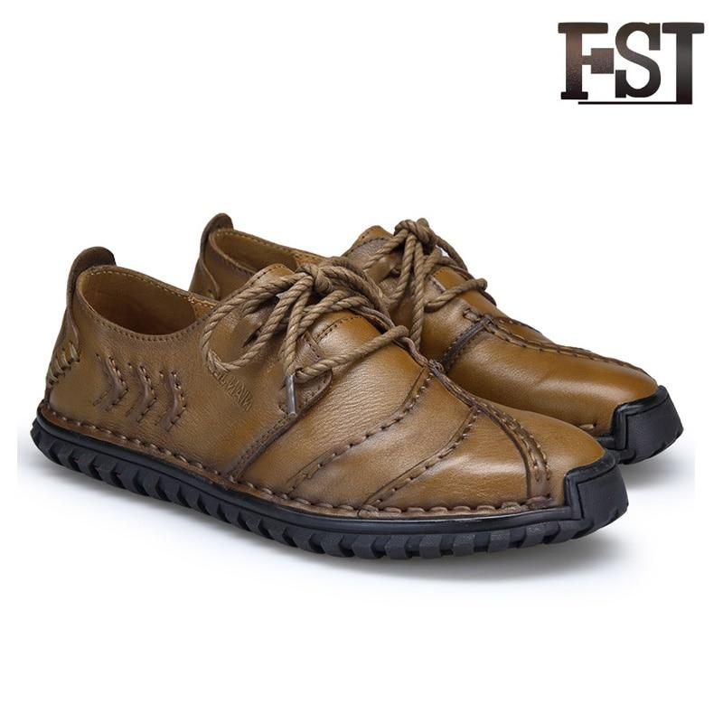 Fsj Décontractées Mens Bureau Chaussures En Véritable Fsj01 Cuir Respirant Printemps Carrière Brun Couture D'été fsj02 À automne Mocassins Lacets pVUGqSzM