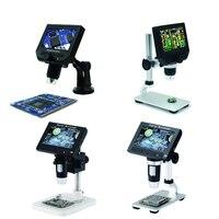 600X USB electronic microscope lcd digital video microscope camera 4.3 inch HD OLED Endoscope magnifying Camera +LED lights