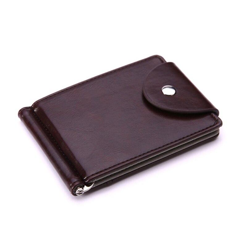Business Wallet Fashion Short Buckle Male Money Clips High Quality Leather Men Wallets Hasp Mini Purses Vintage Men Wallet QL