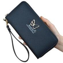 Купить с кэшбэком Fashion Lady Purses Wristlet Handbags Women Wallets Long Money Bag Zipper Coin Purse Pocket Cards Holder Woman Wallet Notecase