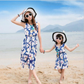 2016 NEW Family Matching Outfits Summer Dress mother daughter dress family look fashion flowers casual mother daughter clothes