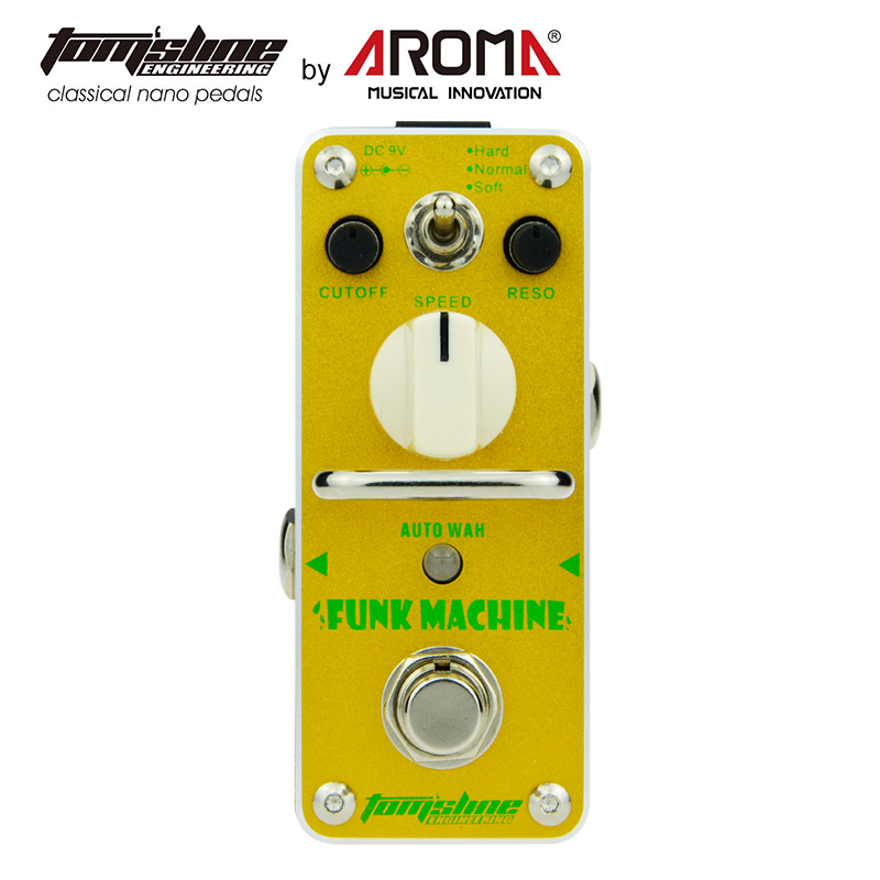 AROMA AFK-3 Guitar Effect Pedal Funk Machine Auto Wah Electric Guitar Effect Pedal Mini Single Effect True Bypass aroma aov 3 ocean verb digital reverb electric guitar effect pedal mini single effect with true bypass guitar parts