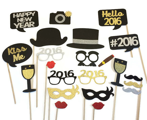2017 New Years Eve Wedding Photo Booth Prop Holiday Photo Booth