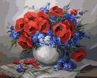 בד ציור ללא מסגרת תמונה by diy הדיגיטלי gx9423 סלון עיצוב בית ציור שמן של פרח 40*50 cm וול ארט