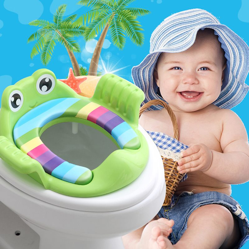 2 Colors Baby Potty Training Seat Children's Potty Baby Toilet Seat With Adjustable Ladder Infant Toilet Training Folding Seat | Happy Baby Mama