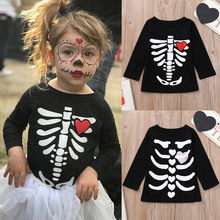 bdfb40250 2018 New Fashion Toddler Infants Baby Boys Girl Skeleton Print Tops  Halloween Costume Outfits Set WF16