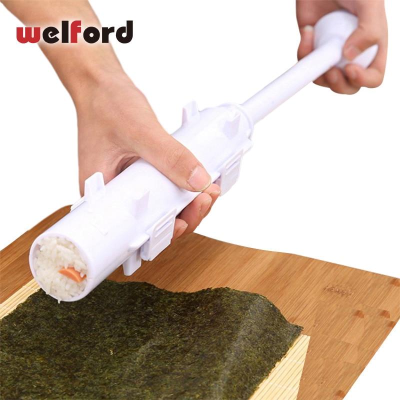 Welford Rouleau Sushi maker Rouleau Fabrication De Moules Kit Sushi Bazooka Riz Viande Légumes BRICOLAGE Faire La Cuisine Outils Gadgets Accessoires