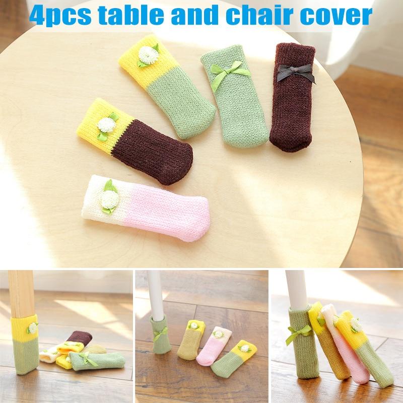 dining room chair leg protectors | 4 Pcs Knitting Table Chair Foot Leg Cover Sleeve Socks ...