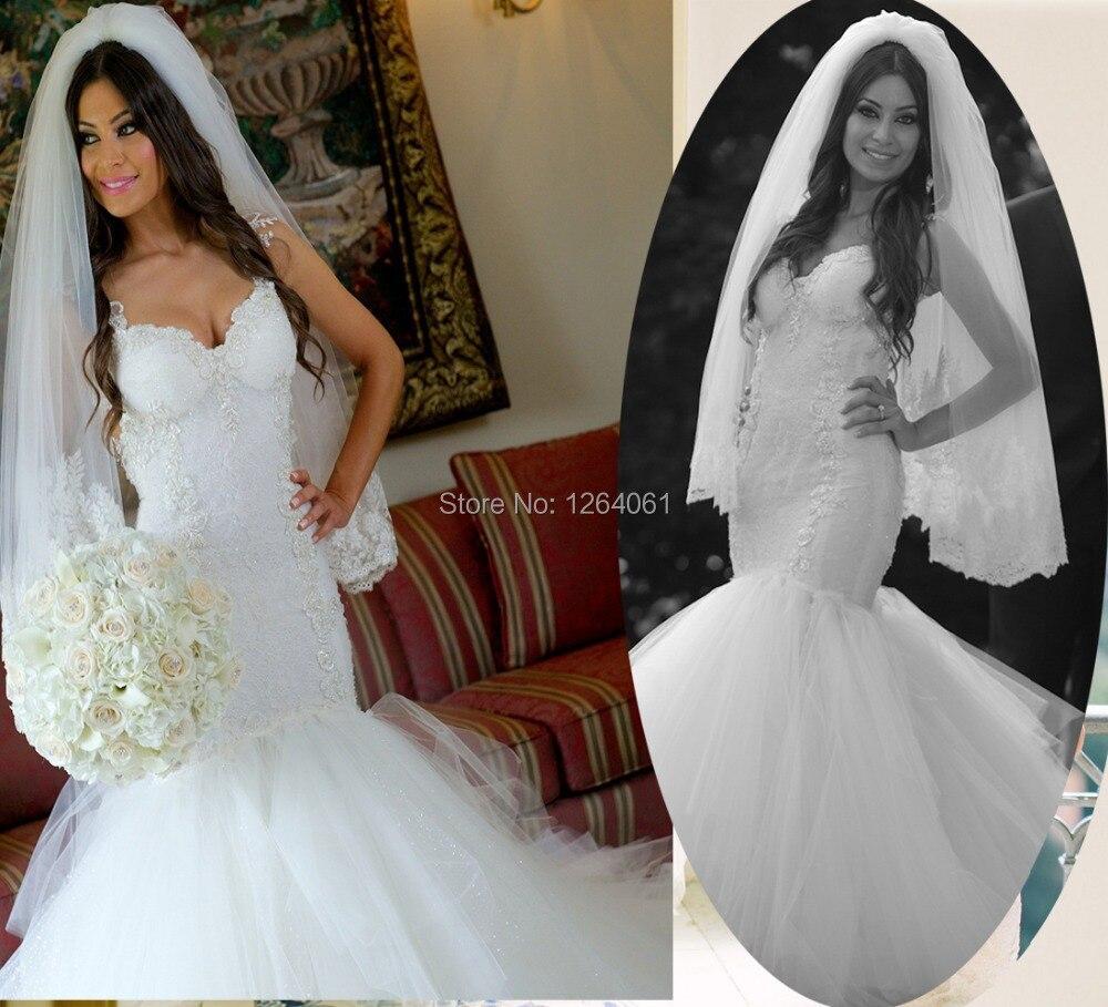 Stunning White Spaghetti Straps Sweetheart Appliques Bride