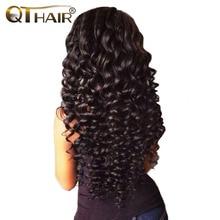 No Shedding Malaysian Deep Wave Human Hair Bundles Weave Natural Black Color 8 28 Inch Non