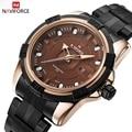 NAVIFORCE Marca de Moda Hombres Deportes Relojes hombres de Cuarzo Resistente Al Agua Reloj de Acero Lleno Hombre Relojes Militares relogio masculino