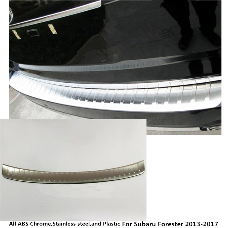 For subaru Forester 2013 2014 2015 2016 2017 external Rear Bumper Protect trim car style cover Stainless Steel plate pedal 1pc universal 8mm thread round motorcycle rearview mirrors silver pair