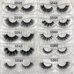 Image 5 - Wholesale Free UPS 50 pairs Mikiwi Eyelashes 3D 5D  Mink Lashes Handmade Dramatic Lashes 80 styles custom logo label lashes